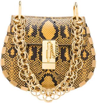 Chloé Mini Drew Bijou Python Print Leather Shoulder Bag