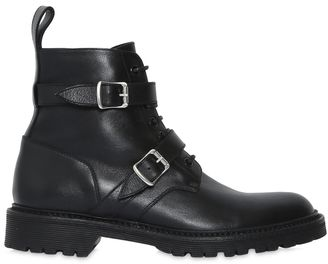20mm Army Double Buckle Leather Boots $995 thestylecure.com