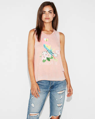 Express Beach'N Graphic Muscle Tank
