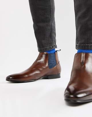 Ted Baker Lowpez chelsea boots in brown leather