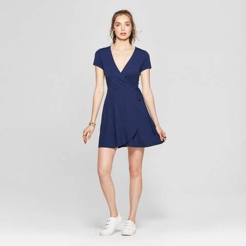 Lots of Love by Speechless Women's Wrap Dress - Lots of Love by Speechless (Juniors') Navy