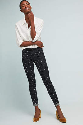 Current/Elliott The Easy Dot Mid-Rise Skinny Jeans