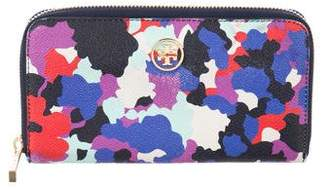 Tory Burch Floral Print Continental Wallet