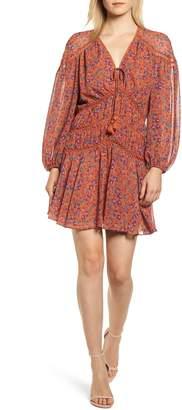 Rebecca Minkoff Caden Tassel Tie Floral Minidress