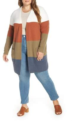 Madewell Kent Colorblock Long Cardigan