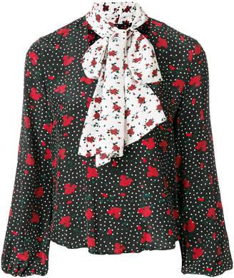 Rixo London Angie contrast necktie detail blouse