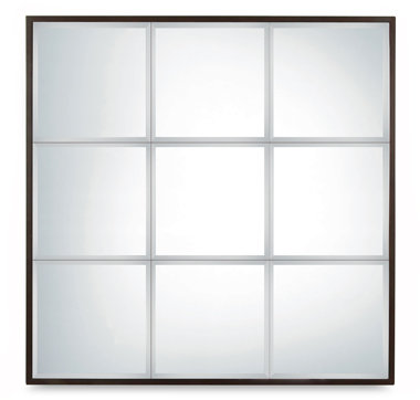 Herrion 9-pane Beveled Mirror