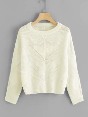 Shein Drop Shoulder Loose Knit Sweater