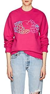 Cédric Charlier Women's Logo Cotton Fleece Sweatshirt - Fushia
