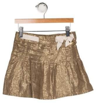 Christian Dior Girls' Linen-Blend Skirt
