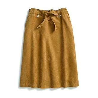 Tommy Hilfiger Adaptive Women's Midi Skirt Suede with Magnet Buttons