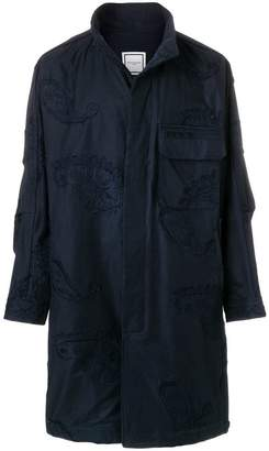Wooyoungmi embroidered applique coat