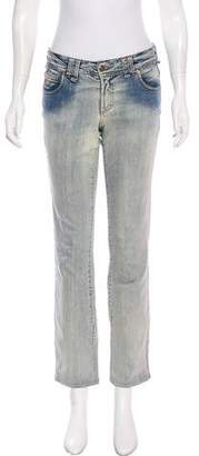 Galliano Mid-Rise Straight Leg Jeans
