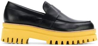 Paloma Barceló ridged platform loafers