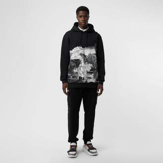 Burberry Dreamscape Print Cotton Blend Hoodie