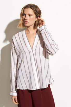 Vince Textured Stripe Pullover