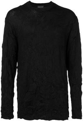 Yohji Yamamoto wrinkled sweater
