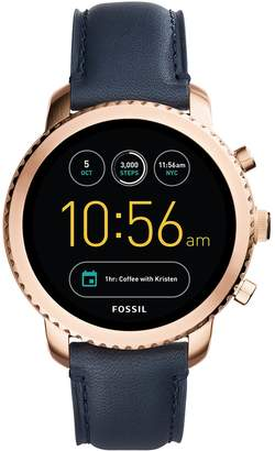 Fossil Women's Q Explorist Gen 3 Leather Smart Watch - FTW4002