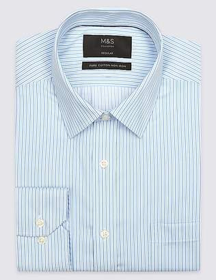 Marks and Spencer 2in Longer Non-Iron Regular Fit Shirt