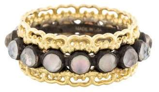 Armenta Old World Mother of Pearl & Smoky Quartz Doublet Band