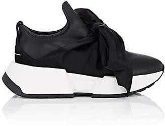 MM6 MAISON MARGIELA Women's Leather Bow-Embellished Sneakers - Black