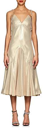 Calvin Klein Women's Silk-Blend Lamé Slipdress - Gold