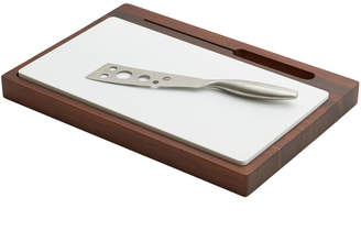 Woodard & Charles Cheese Board With Ceramic Insert & Stainless Steel Knife