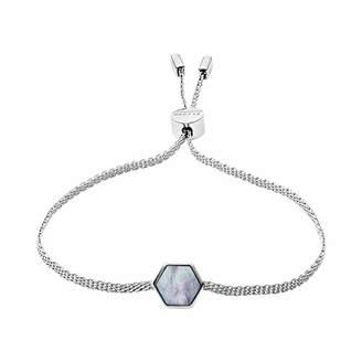 Skagen Women's Anette Silver-Tone Mother of Pearl Bracelet
