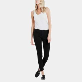AG Jeans Raw Hem Legging Ankle Jean in Black Ink
