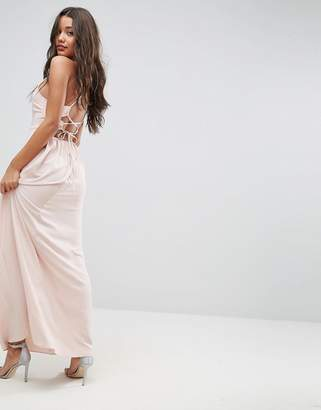 Asos Design Maxi Dress with Strappy Back Detail