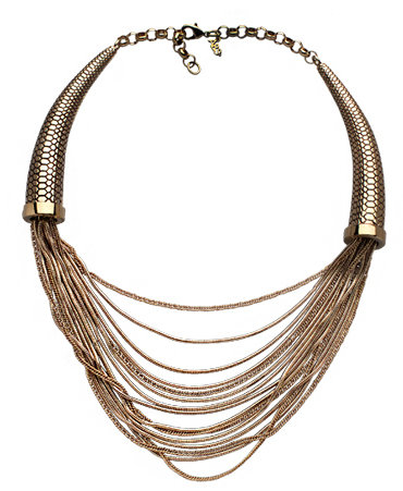 ABS Double Horn Bib Necklace