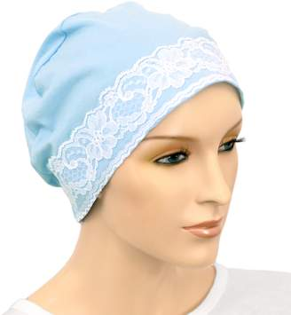 Hats For You Hats for You Women's Night Chemo Cap with Lace Detail