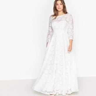 CASTALUNA PLUS SIZE Floral Embroidered Lace Maxi Wedding Dress