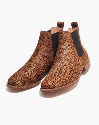 Madewell The Ainsley Chelsea Boot in Spotted Calf Hair