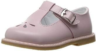 Baby Deer Girls' Leather T-Strap with Perfs Slide
