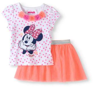 Minnie Mouse Disney Minnie Toddler Girl Knit Pullover