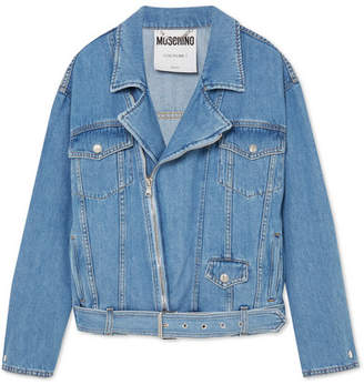 Moschino Denim Biker Jacket - Blue