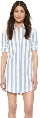 7 For All Mankind Striped Shirtdress $199 thestylecure.com