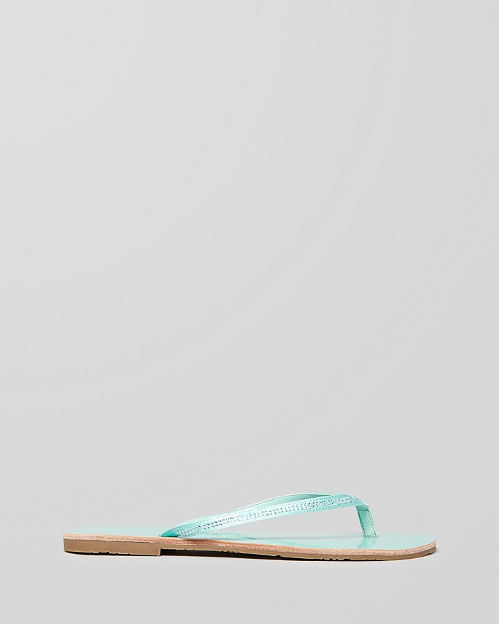 GUESS Flip Flop Sandals - Laidley2 Rhinestone Flat