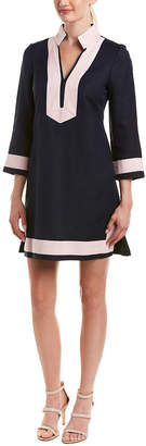 Eliza J Linen-Blend Shift Dress