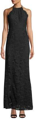 Aijek Melanie Tie-Back Lace Maxi Dress