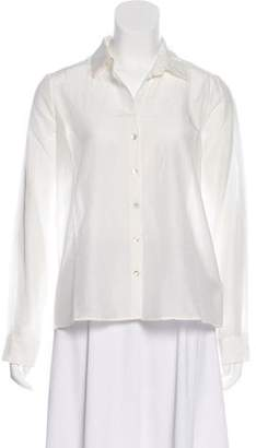L'Agence Open Back Button-Up Top