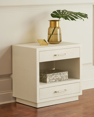 Interlude Home Robyn Bedside Chest, White