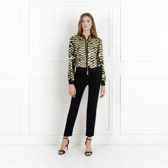 Rachel Zoe Emilia Paillette Embroidered Bomber Jacket