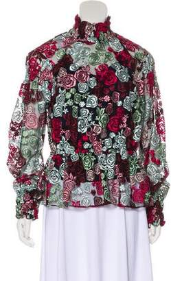 Zac Posen Embroidered Peasant Blouse w/ Tags