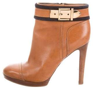 Tory Burch Leather Ankle Booties