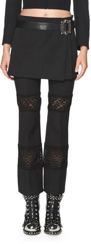 Alexander McQueenAlexander McQueen Belted Pleated Kilt Mini Skirt, Black