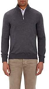 Barneys New York Men's Half-Zip Sweater - Gray