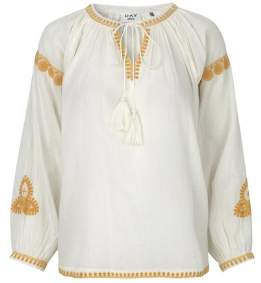 DAY Birger et Mikkelsen Safron Calendula Top - 40/uk 14 - Gold/White