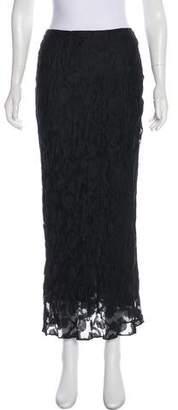 DKNY Silk Midi Skirt